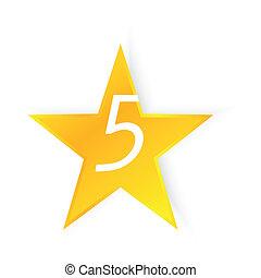 cinq, étoile