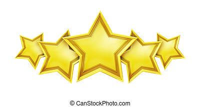 cinq, étoile, service, classement