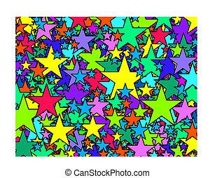 cinq côtés, étoiles