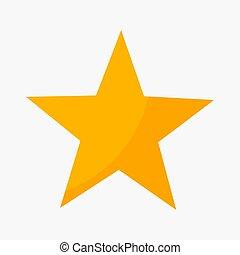 cinq, classement, point, étoile, icône