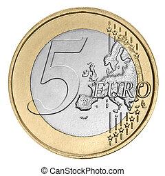cinq euro, monnaie