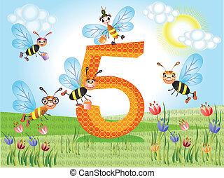 cinq, nombre
