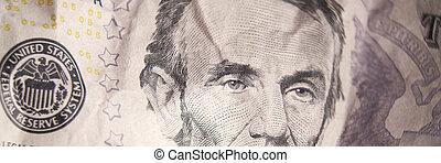 cinq, note, dollar