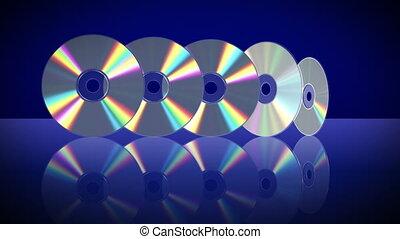 cinq, une, laser, après, disques, apparaître, autre