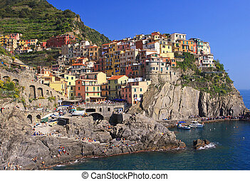 cinque terre, liguria, famous holiday place in italy