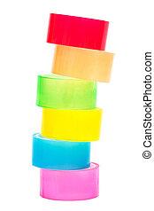 cinta adhesiva, coloreado
