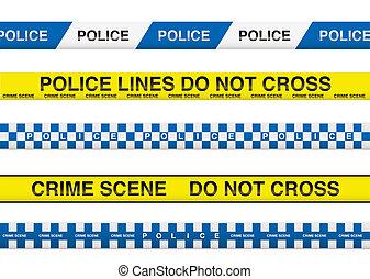 cinta de la policía
