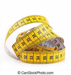 cinta medición, aislado