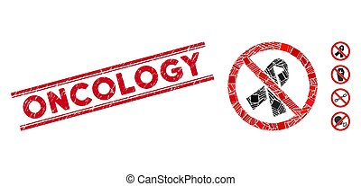 cinta, oncología, mosaico, luto, no, sello, angustia, líneas