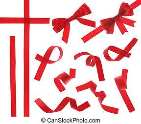 cinta roja, (isolated