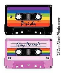 cintas, fita-cassete, lgbt, cassette, retro