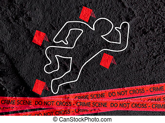 cintas, peligro, pared, escena, ilustración, crimen, textura, plano de fondo