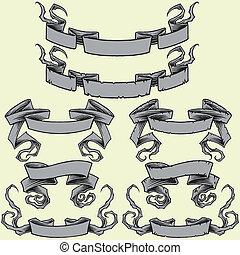 cintas, y, dañado, cintas