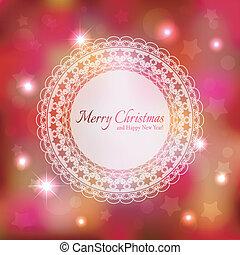 cintilante, estrela, cartão natal, saudação