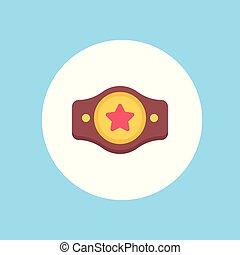 cinto, símbolo, sinal, campeão, ícone
