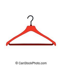 cintre, plat, rouges, icône