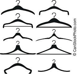 cintres, vêtements