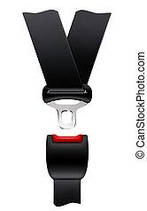 cinturón, vector, seguridad