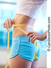 cintura medição