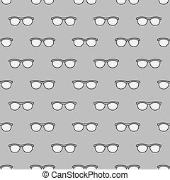 cinzento, óculos,  seamless, Padrão