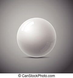 cinzento, abstratos, isolado, esfera