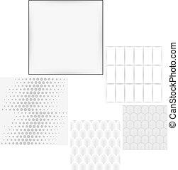 cinzento, branca, seamless, fundo, jogo