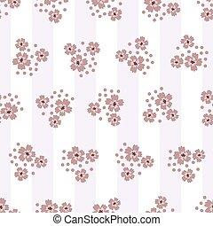 cinzento, branca, seamless, padrão, cores, fundo, flores