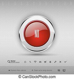 cinzento, elementos, jogo, ícones, botão, vetorial, desenho, lustroso, vermelho