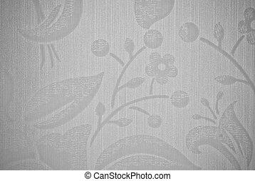 cinzento, flor, abstratos, textura, fundo, ou