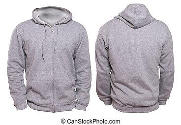 cinzento, hoodie, escarneça, cima
