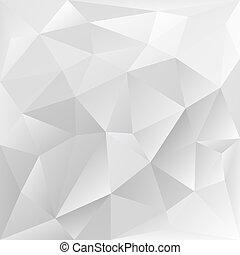 cinzento, polygonal, textura, incorporado, fundo