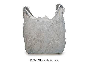 cinzento, sacola plástica