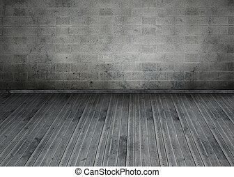 cinzento, sala