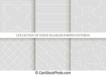 cinzento, vime, patterns., seamless, cobrança, repeatable, textura, listrado, branca