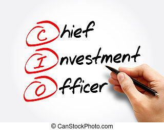 CIO - Chief Investment Officer, acronym business concept background
