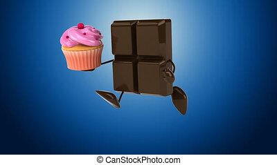 cioccolato, -, animazione digitale
