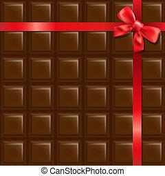 cioccolato, arco rosso