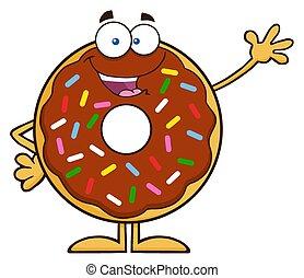 cioccolato, carino, donut