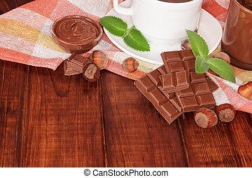 cioccolato, ciotola, crema