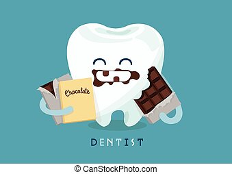 cioccolato, dente