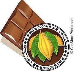 cioccolato, sigillo, qualità
