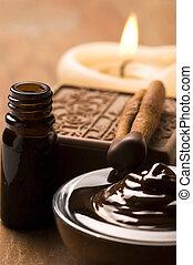cioccolato, terme, con, cannella