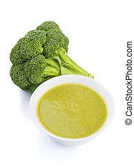 ciotola minestra, broccolo, crema
