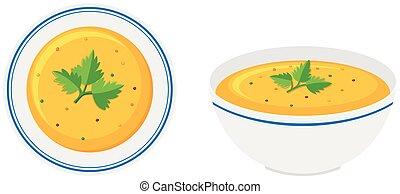 ciotola minestra, zucca