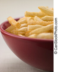 ciotola, patatine fritte