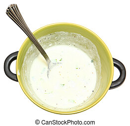 ciotola, pepe, calce, crema acida
