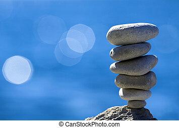 ciottoli, equilibrio