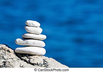 ciottoli, pila, equilibrio