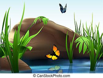ciottolo, fiume