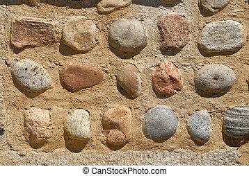 ciottolo, parete
